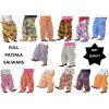 Wholesale Printed Patiala Salwars Lot of 12 PURE COTTON free-size FULL Patiala Bottoms