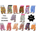 Printed Patiala Salwars Wholesale Lot of 12 Pants
