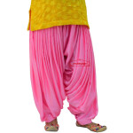 Pink Satin Maharani Patiala Salwar – Custom Stitched