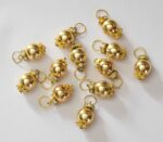 12 Pieces Lot of 2cm size Golden Ball Latkan Dangles LK083