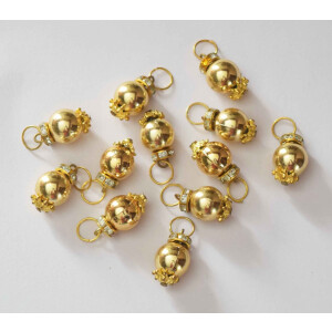 12 Pieces Lot of 2cm size Golden Ball Latkan Dangles LK083