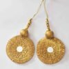 Big Gota Patti Latkan Jhumka pair (3 inch Dia.) for Lehenga, Ghaghra, saree Pallu, kurti, LK084