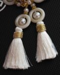 White Tassles Latkan Dangles pair Multipurpose use LK086