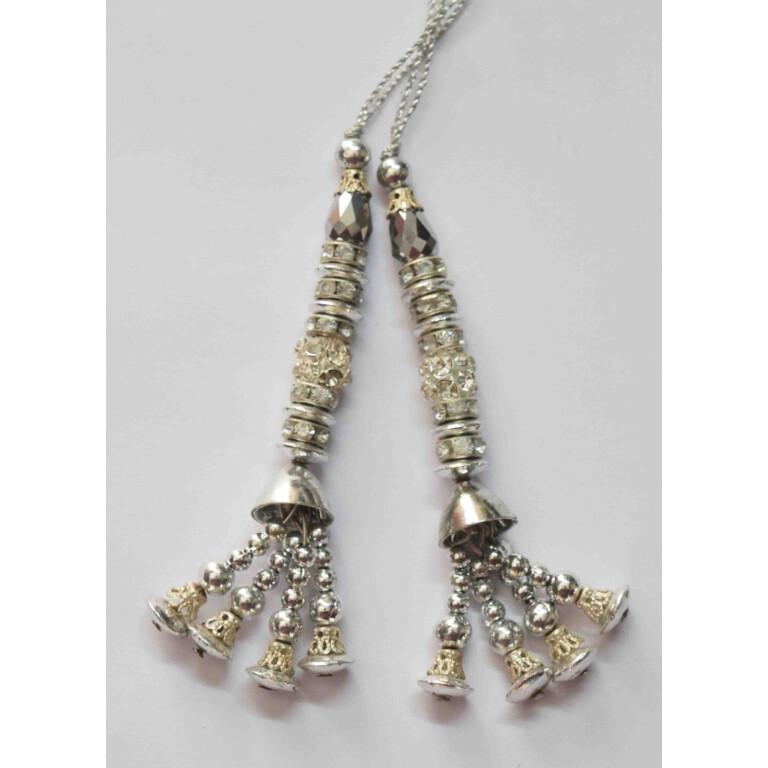 Silver Latkans Dangles pair Multipurpose use LK087