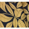 Black base Fawn leaves COTTON PRINTED FABRIC for Multipurpose use (per meter price) PC377