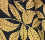 Black base Fawn leaves COTTON PRINTED FABRIC for Multipurpose use PC377