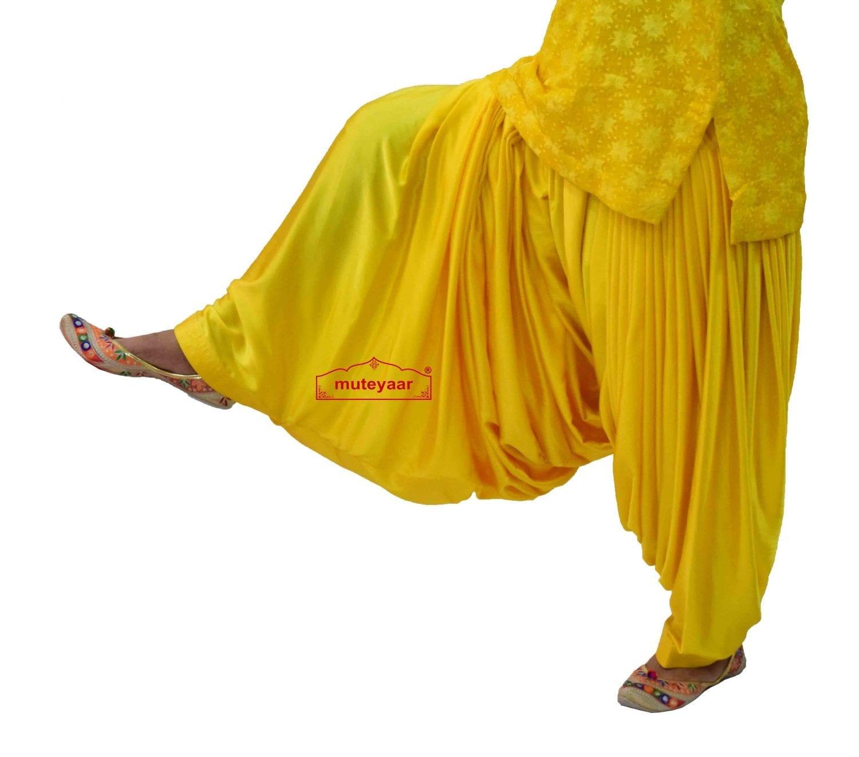 Party Wear Satin Silk Shiny Maharani Patiala Salwar - Buy Custom Stitched 1