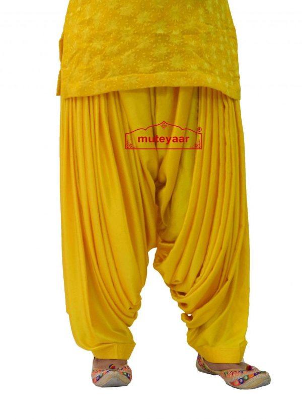 Party Wear Satin Silk Shiny Maharani Patiala Salwar - Buy Custom Stitched
