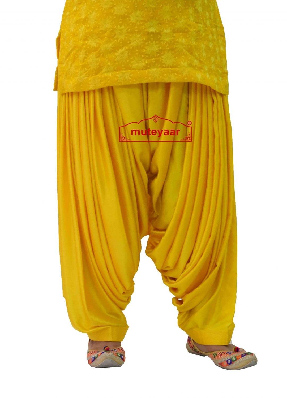 Party Wear Satin Silk Shiny Maharani Patiala Salwar - Buy Custom Stitched 3