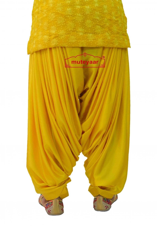 Party Wear Satin Silk Shiny Maharani Patiala Salwar - Buy Custom Stitched 4