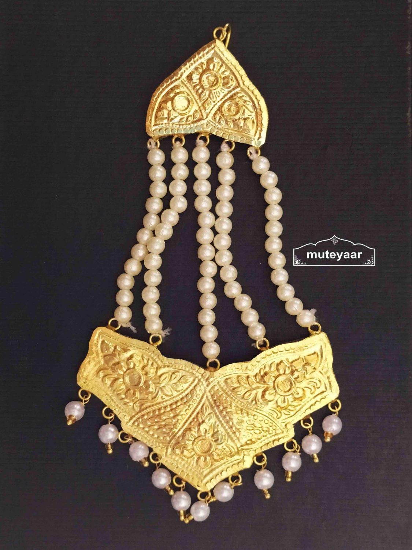 Side Pasa Hair Accessory Punjabi Traditional Imitation Passa J0488 1