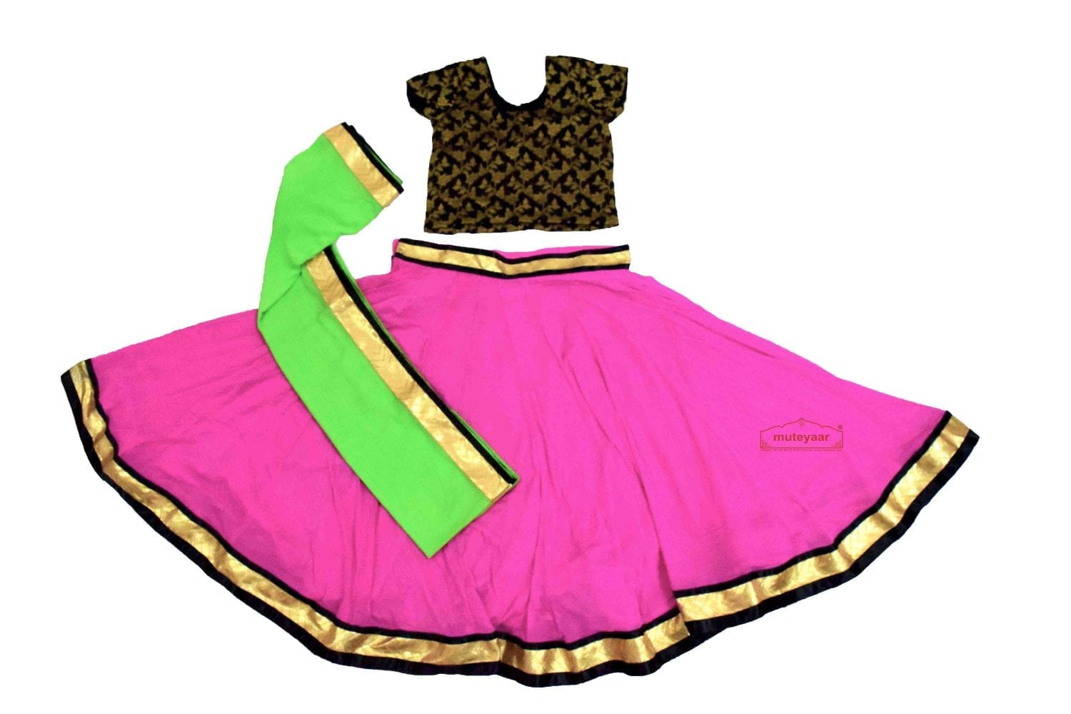 Bollywood Chiffon Lehenga Choli Dance Costume BLC1 2
