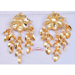 Kundan Earrings Gold Polished Traditional Punjabi Jhumki J0483
