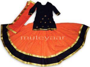 Custom made Lehenga for Giddha – Costume outfit dance dress