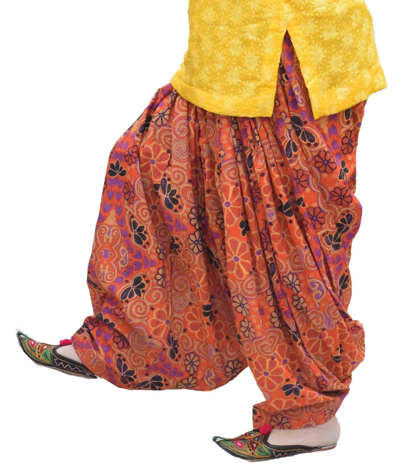 Printed Full Patiala Salwar Limited Edition 100% Pure Cotton Shalwar PPS270 1
