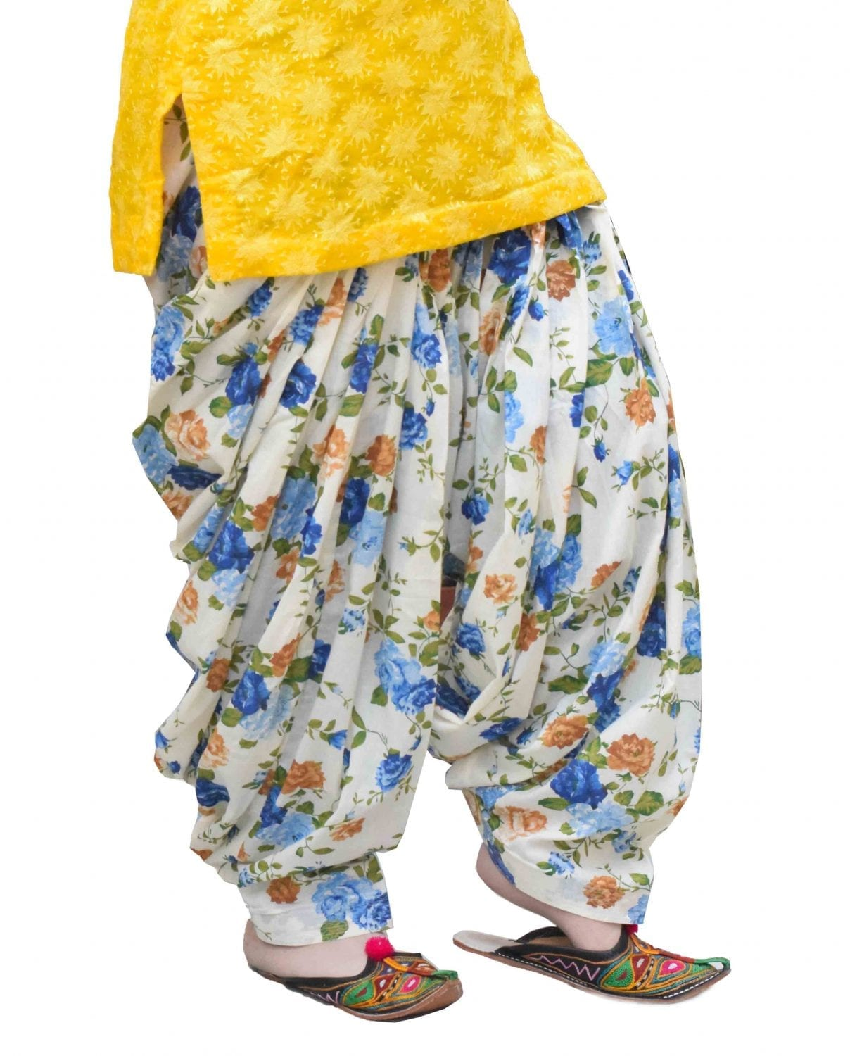 Printed Full Patiala Salwar Limited Edition 100% Pure Cotton PPS271 1
