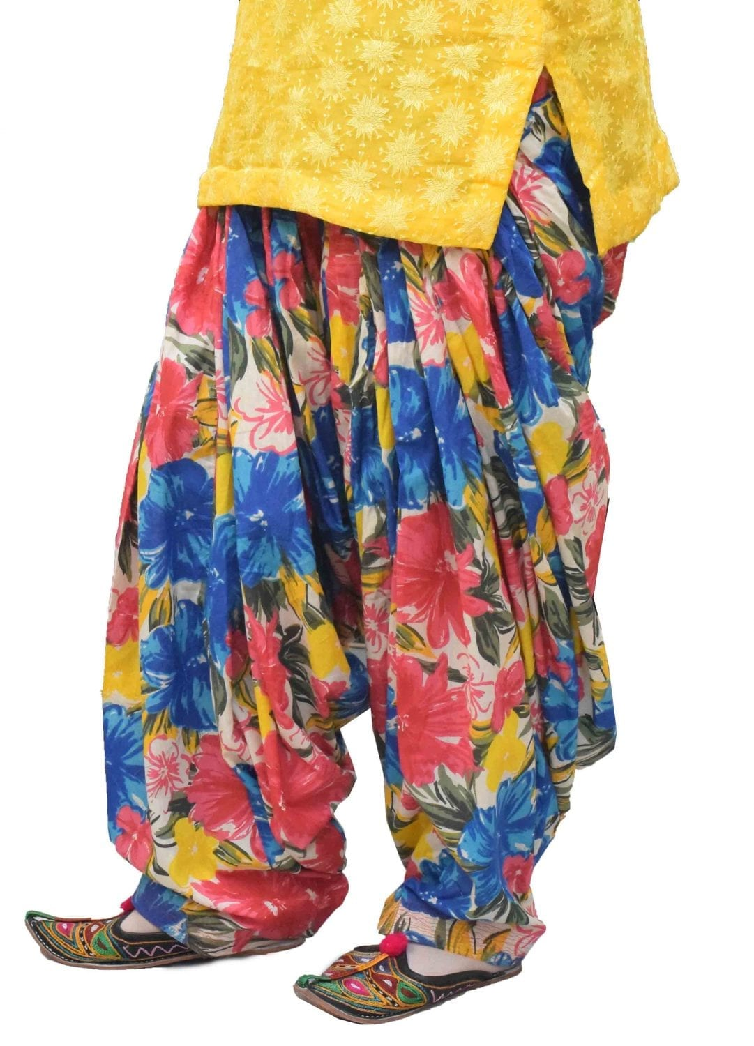 Printed Full Patiala Salwar Limited Edition 100% Pure Cotton PPS273 1