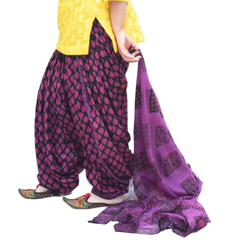 Printed Full Patiala Salwar Dupatta Set Limited Edition 100% Pure Cotton PSD260 1