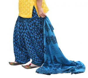 Printed Full Patiala Salwar Dupatta Set Limited Edition 100% Pure Cotton PSD261