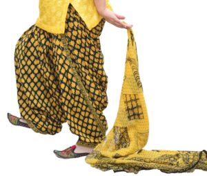 Printed Full Patiala Salwar Dupatta Set Limited Edition 100% Pure Cotton PSD264