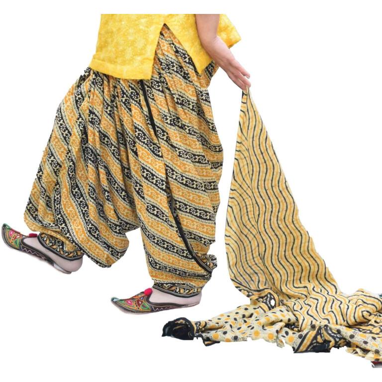 Printed Full Patiala Salwar Dupatta Set Limited Edition 100% Pure Cotton PSD265