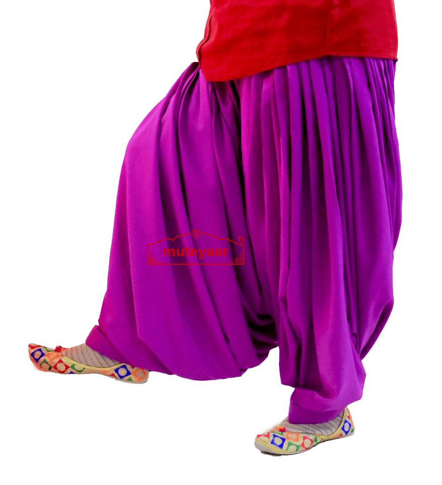 Crepe Maharani Patiala Salwar Custom Stitched from Patiala City 1