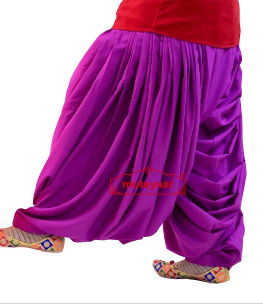 Crepe Maharani Patiala Salwar Custom Stitched from Patiala City 3