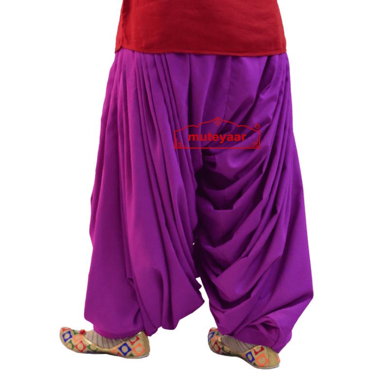 Crepe Maharani Patiala Salwar Custom Stitched from Patiala City