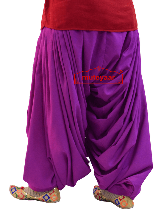 Crepe Maharani Patiala Salwar Custom Stitched from Patiala City