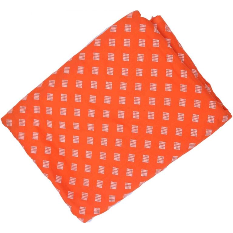 Orange base white allover print Pure cotton for salwar / Kurti (per meter price) PC417