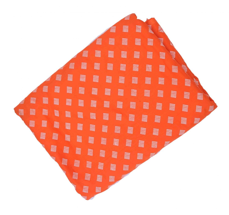 Orange base white allover print Pure cotton for salwar / Kurti PC417 1