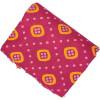 Magenta base yellow allover print Pure cotton for salwar / Kurti (per meter price) PC419