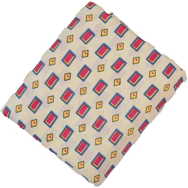 Cream base multicolour allover print Pure cotton fabric (per meter price) PC420