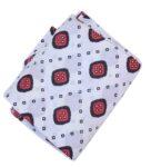 White base Red Black allover print Pure cotton fabric PC421