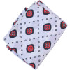 White base Red Black allover print Pure cotton fabric (per meter price) PC421