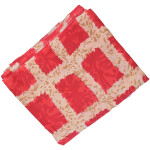 Red allover print Pure cotton fabric PC422