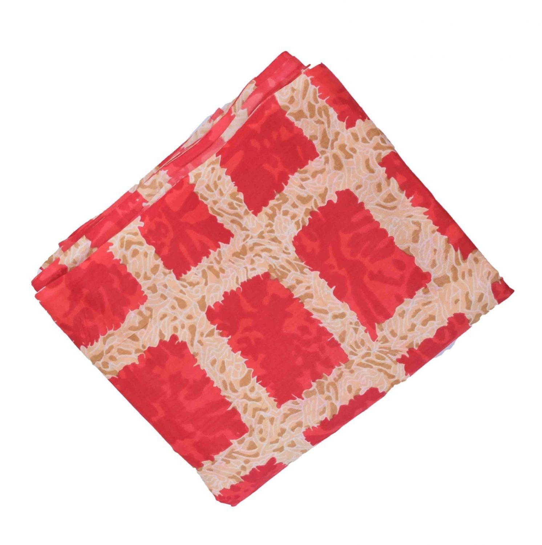 Red allover print Pure cotton fabric PC422 1