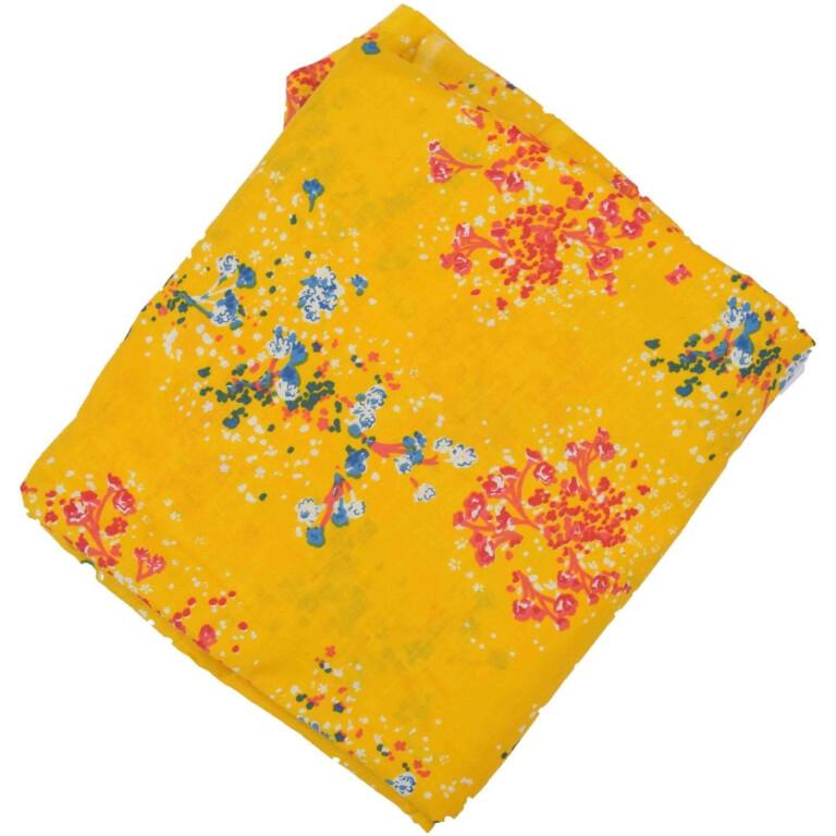 Yellow allover print Pure cotton fabric (per meter price) PC424