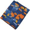 Dark Blue Orange allover print Pure cotton fabric (per meter price) PC427