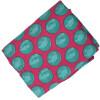 Magenta base Green dots allover print Pure cotton fabric (per meter price) PC429