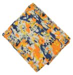 Yellow multicolour allover print Pure cotton fabric PC430
