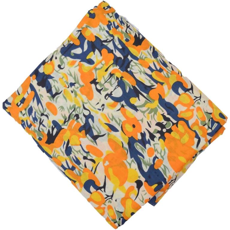 Yellow multicolour allover print Pure cotton fabric (per meter price) PC430