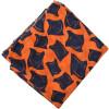 Orange Black allover print Pure cotton fabric (per meter price) PC432