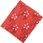 Red white allover print Pure cotton fabric PC433