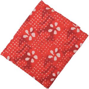 Red white allover print Pure cotton fabric PC433