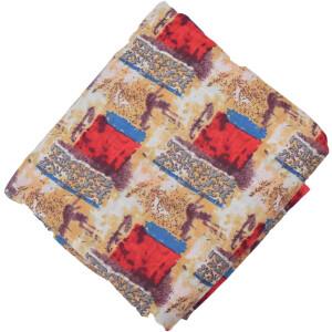Cream multicolour allover print Pure cotton fabric PC434