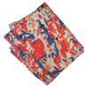 Cream Red  multicolour allover print Pure cotton fabric (per meter price) PC436
