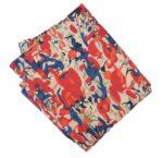 Cream Red  multicolour allover print Pure cotton fabric PC436