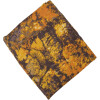 Mustard Brown allover print Pure cotton fabric (per meter price) PC437