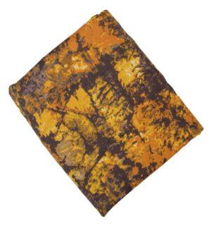 Mustard Brown allover print Pure cotton fabric PC437